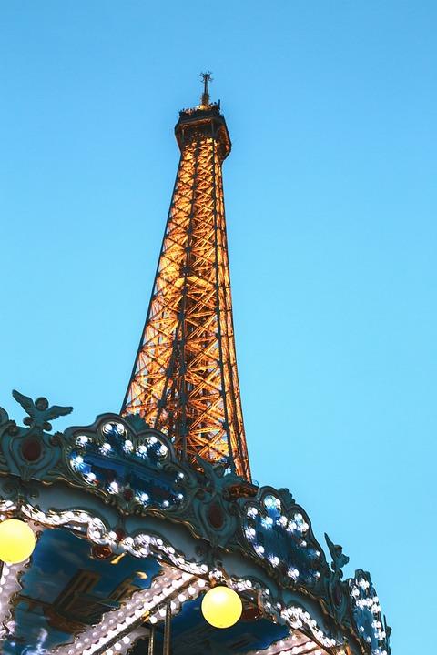 Amusement, Park, Lights, Building, Tower, Skyscraper