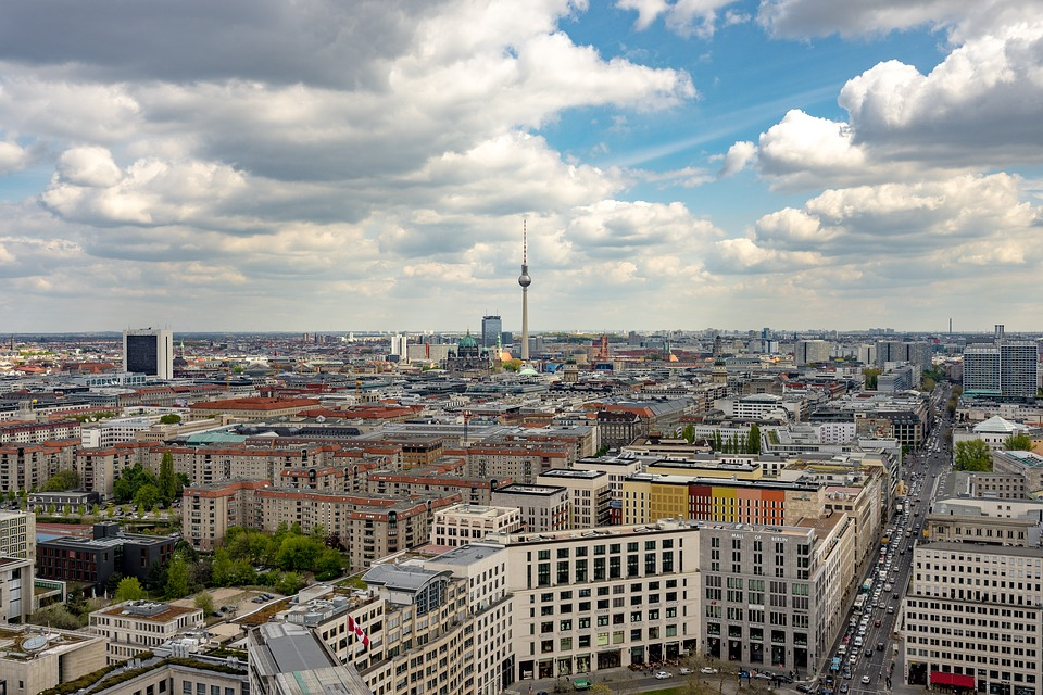Berlin, Panorama, Potsdam Place, Capital, Skyscraper