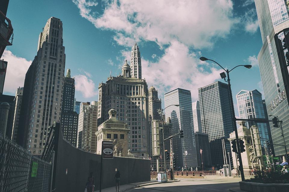 Chicago, Usa, Skyscrapers, Skyscraper, America, Trump