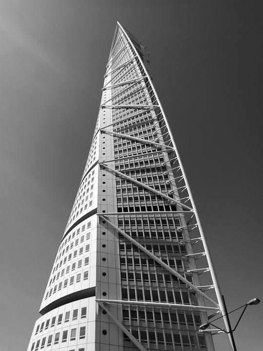 Skyscraper, Tower, Malmoe, Sweden, Architecture, City