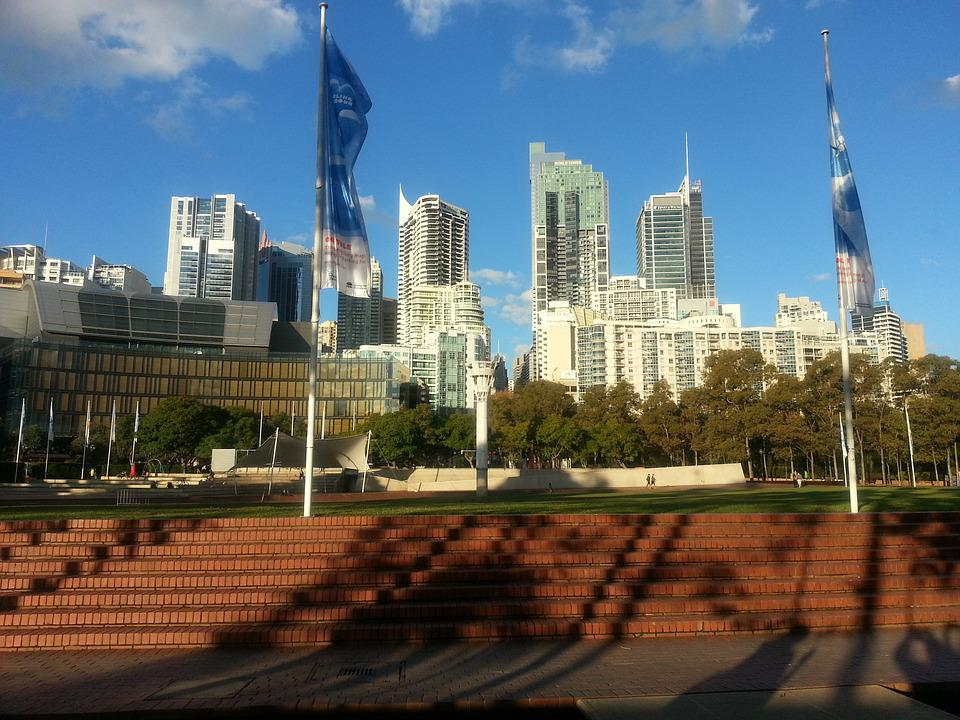 City, Skyline, Sydney, Skyscraper, Downtown, Building