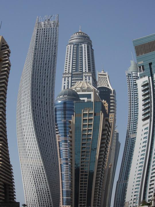 Skyscraper, Sky, Blue, Building, Dubai, City, Buildings