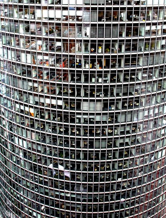 Skyscraper, Glass Facade, Offices, Berlin