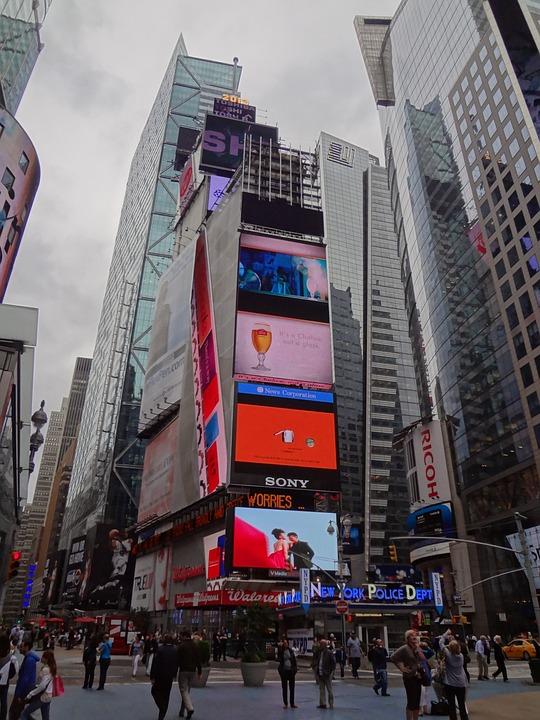 Times Square, New York, Manhattan, Skyscraper