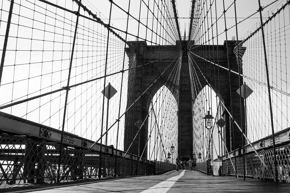New York, Bridge, Manhattan, Skyscraper, City, Skyline