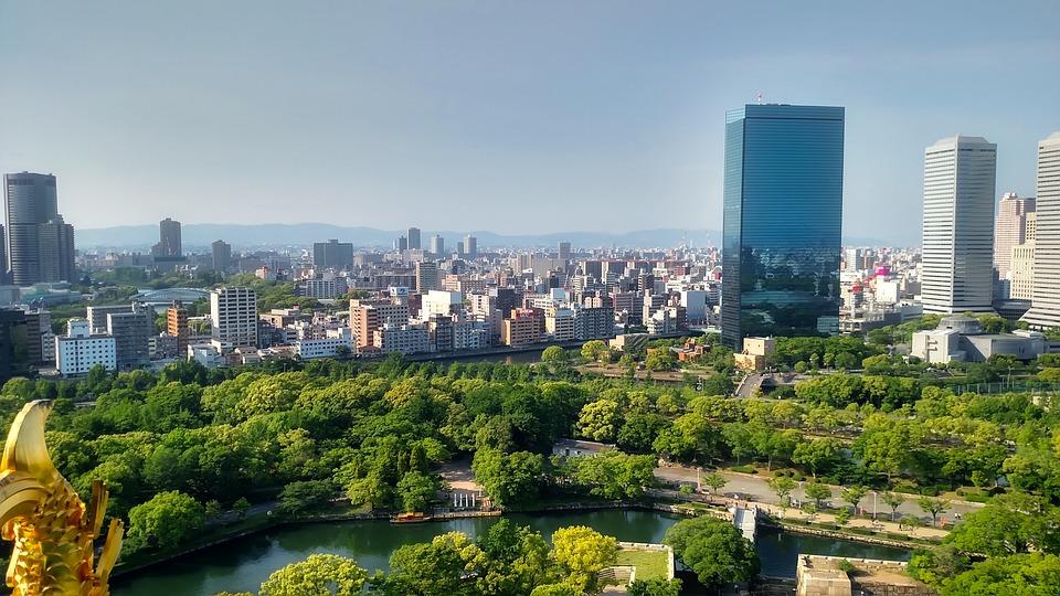 Osaka, Japan, City, Urban, Skyscrapers, Buildings