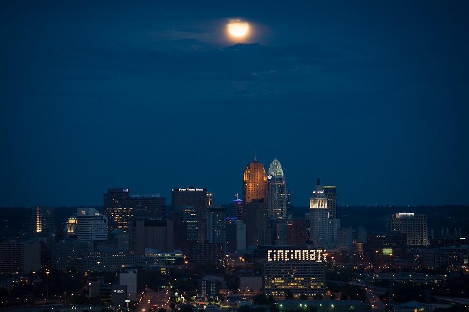 Cincinnati, Ohio, City, Skyline, Buildings, Skyscrapers