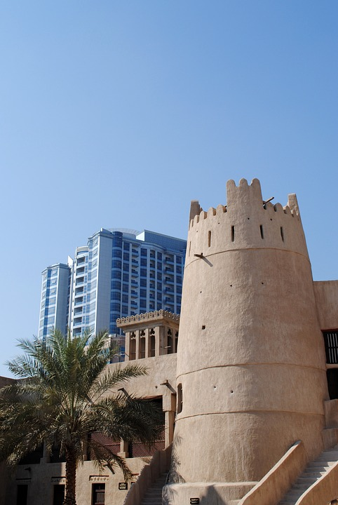 Dubai, Emirates, Skyscrapers, Arabic