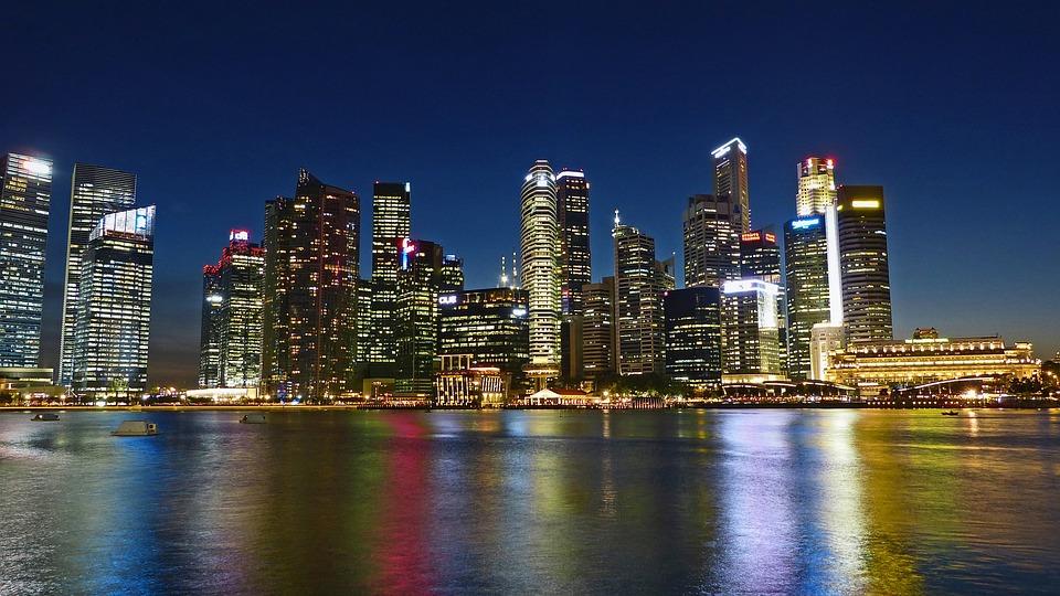 Skyline, Cityscape, Buildings, Skyscrapers, Illuminated