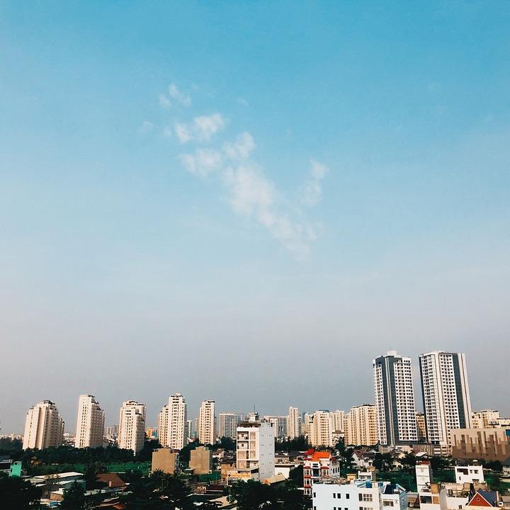 City, Buildings, Skyline, Sky, Skyscrapers, Downtown
