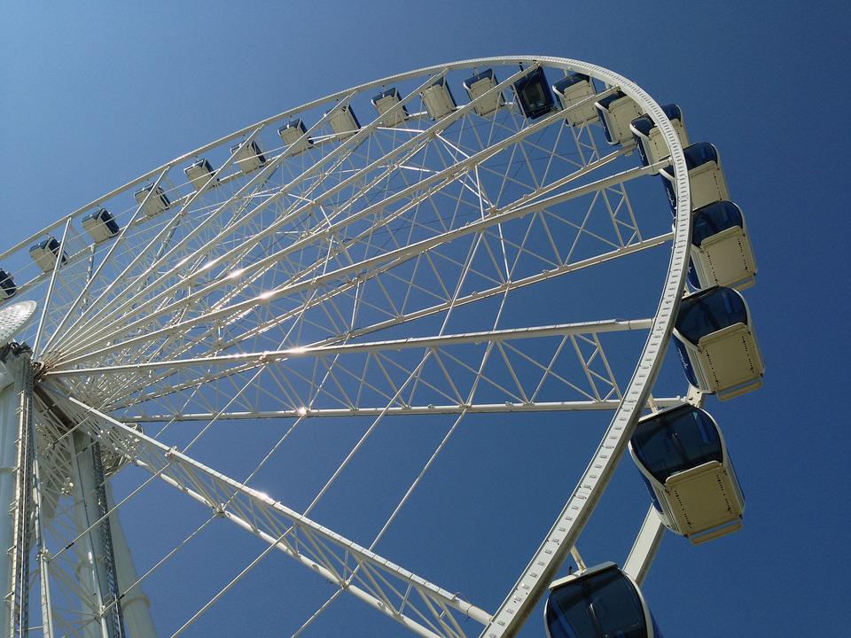 Skywheel, Sky, Attraction, Wheel, Ferris, Amusement