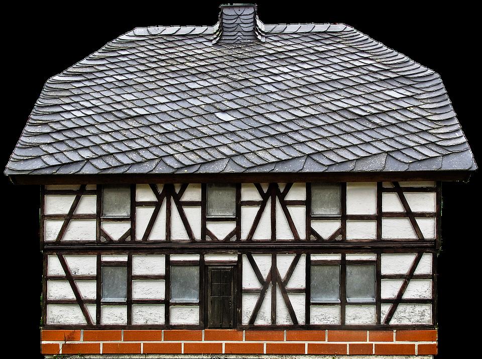 Fachwerkhaus, Roof, Slate, Slate Roof, Model
