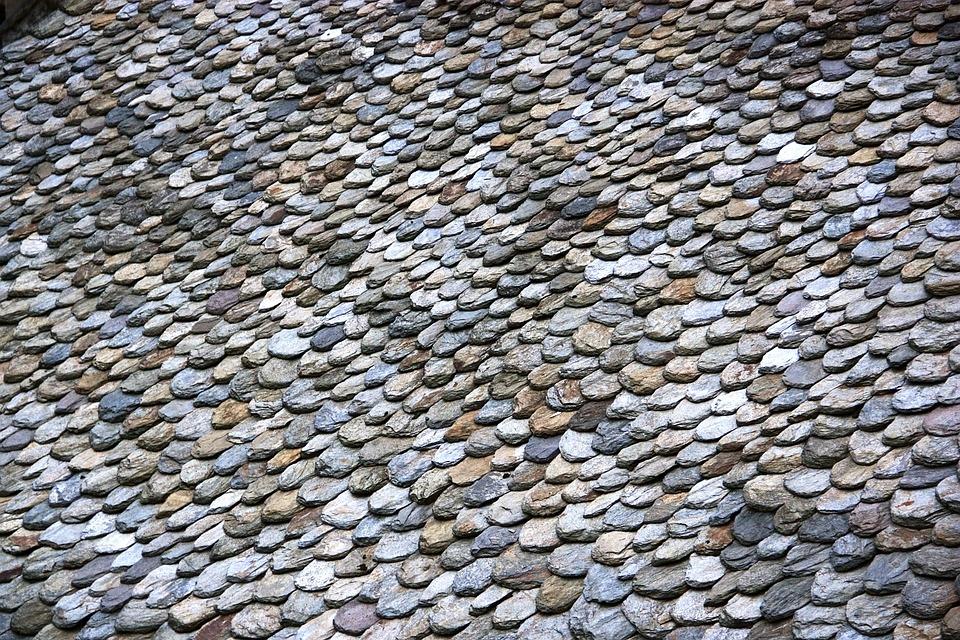 Roof, Slate, France, Texture