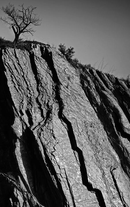 Crack, Geology, Slate, Slate Wall, Hillside, Fracture