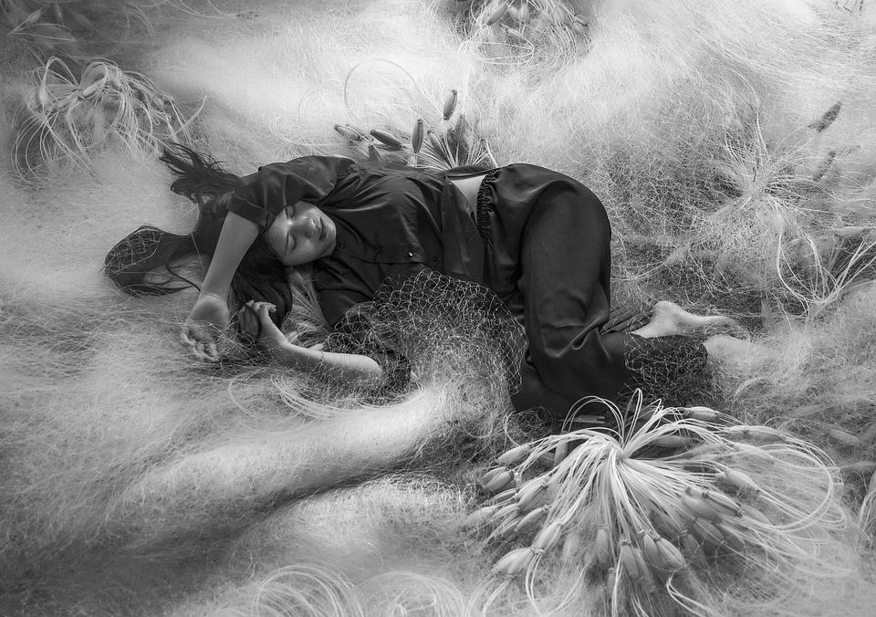 Girl, Sleep, Fishing Net
