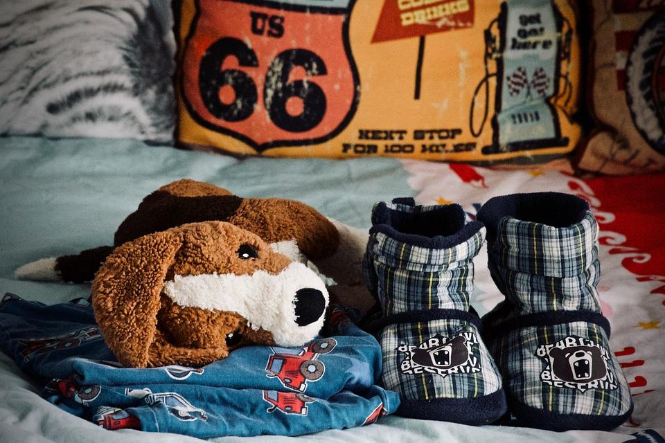 Goodnight, Plush, Pajamas, Slippers, Sleep, Read