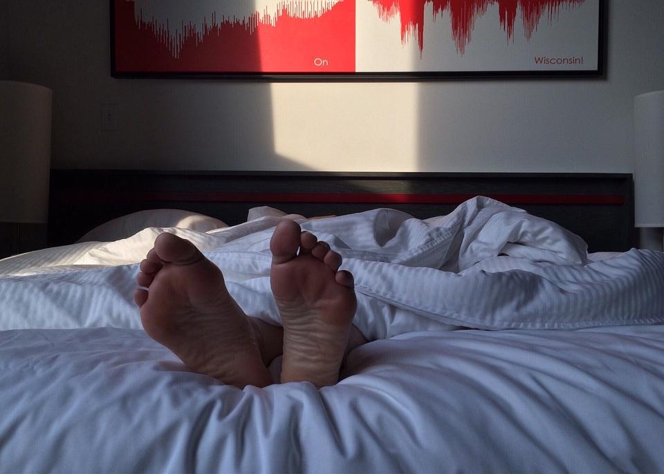 Free photo Sleeping Bedroom Feet Bed Sleep