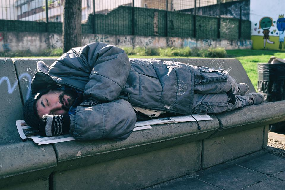 Indigent, Man, Solo, Sleeping