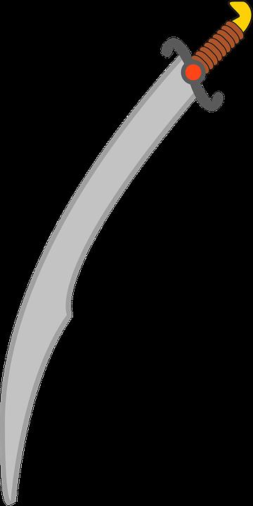 Scimitar, Slice, Sword, Weapon, Sharp, Fight, Arm