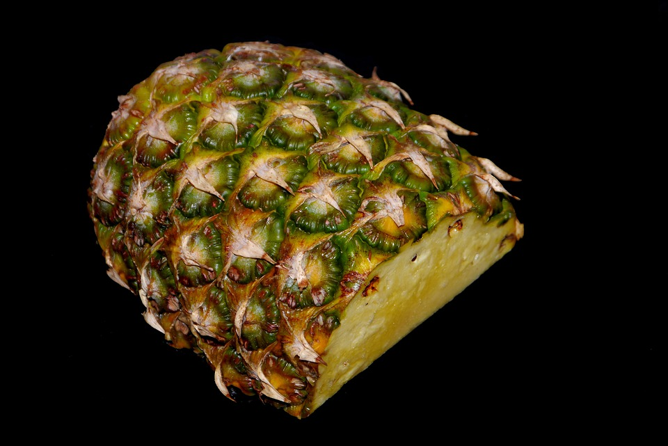 Pineapple, Green, Yellow, Eat, Sliced, Fruit, Food