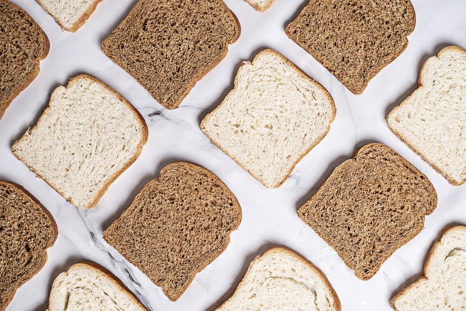 Bread, White, Brown, White Bread, Brown Bread, Slices