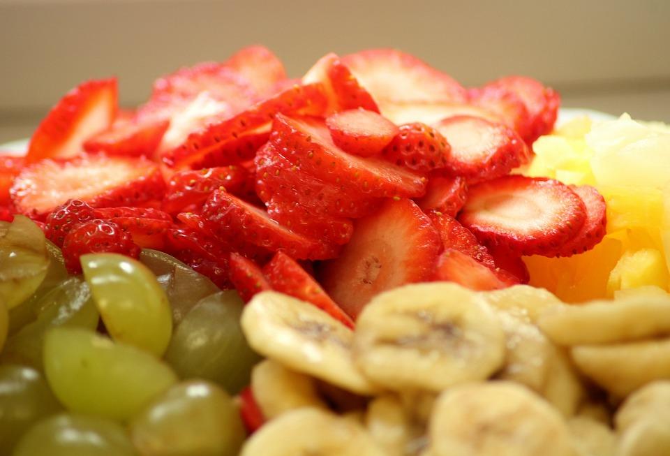 Fruit, Vitamins, Slices, Healthy, Fresh, Grapes