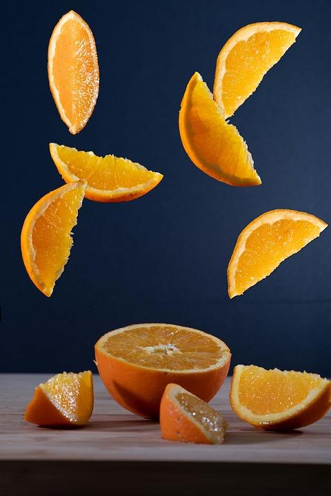 Orange, Fruit, Slices, Food, Organic, Healthy, Vitamins