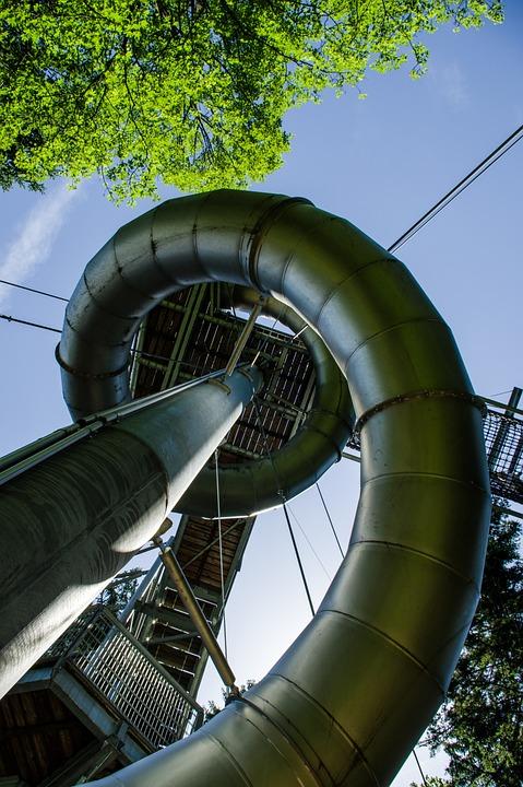 Slide, Play, Playground, Leisure, Play Outside, Skywalk