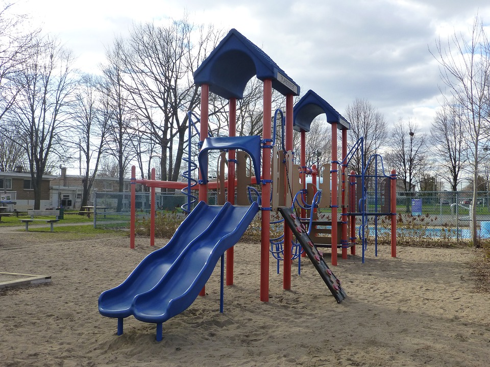 Playgound, Slide, Park, Outdoors, Play, Activities