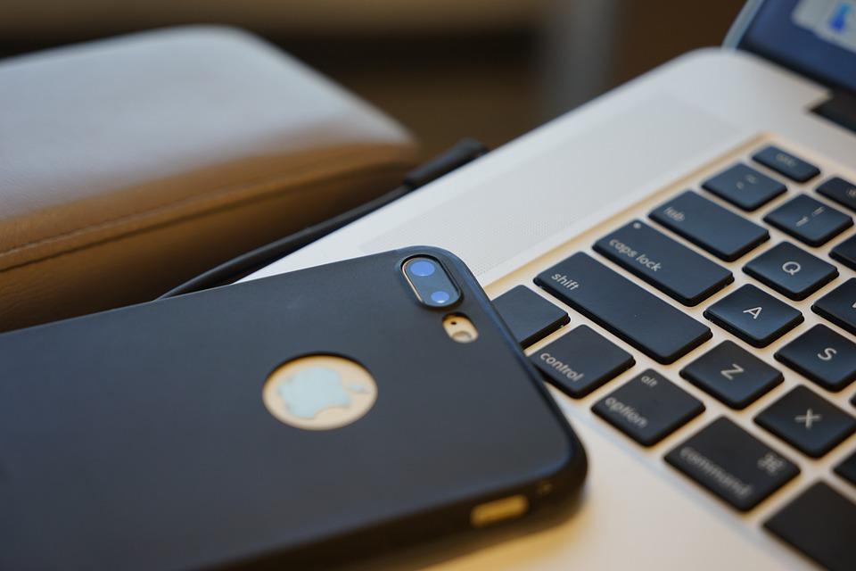 Iphone 7 Plus, Black, Macbook, Slim Case