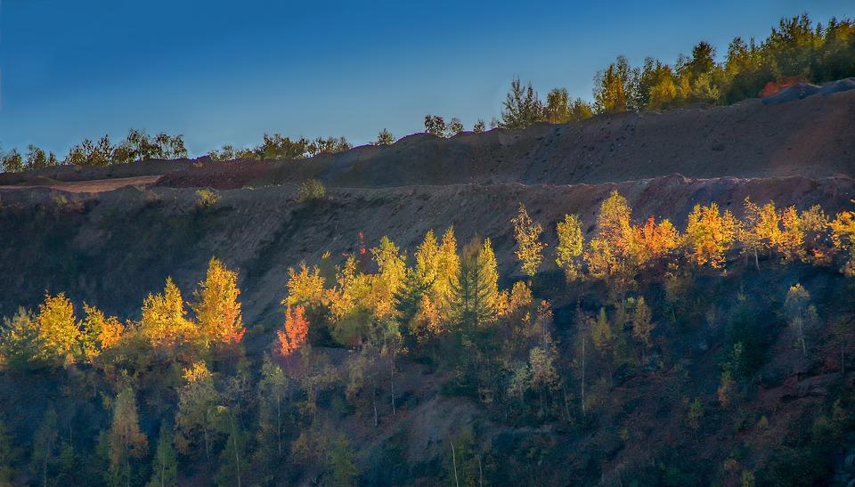 Quarry, Slope, Mountain, Autumn, Nature, Landscape, Sky