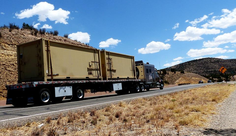 Truck, Transport, Road, Trailer, Slope, Vehicle