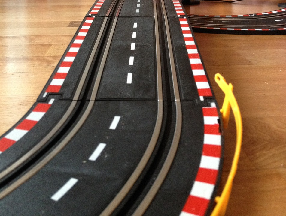 Racecourse, Play, Slot Car, Toys