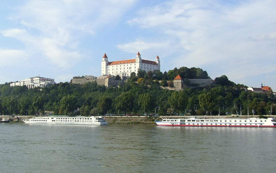 Bratislava, Slovakia, Castle, The Danube, Ship, River
