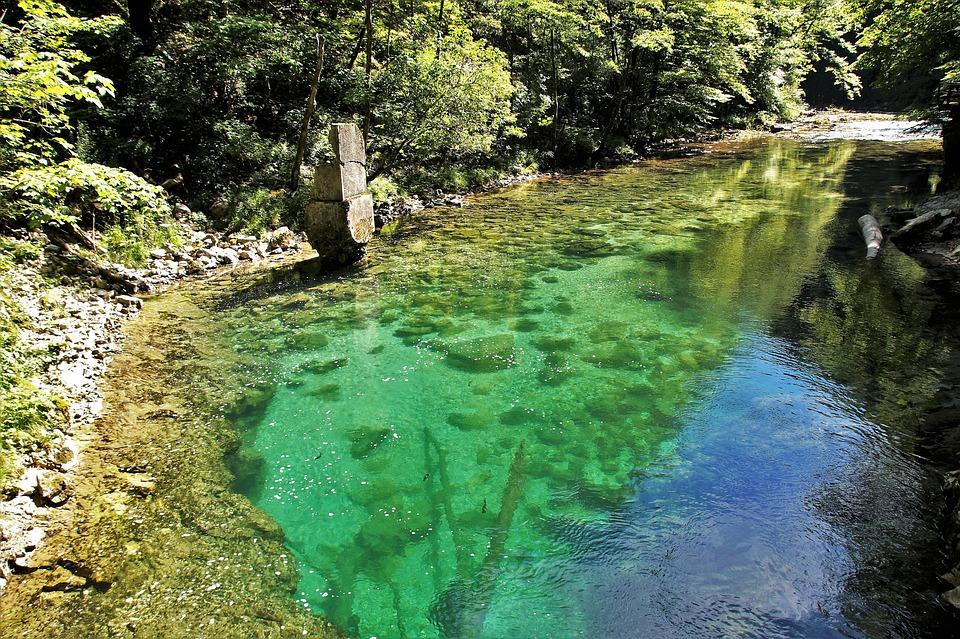 The Vintgar Gorge, Vintgar, Slovenia, River, Wild Water