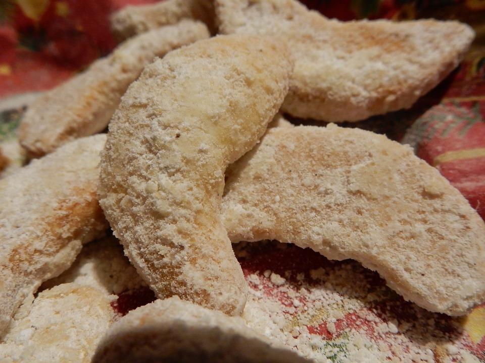 Christmas, Cookies, Vanillekipferl, Cookie, Small Cakes