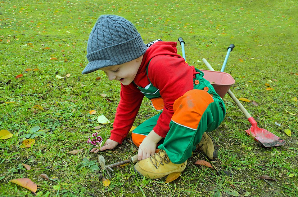 Small, Gardener, Garden, Clothing, Dress, Rakes, Season