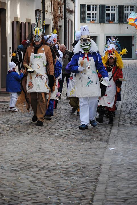 Basler Fasnacht, Masks, Costumes, Small Group