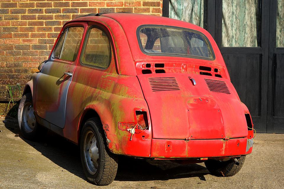 Car, Fiat, Vintage, Old, Italy, Small, Transportation