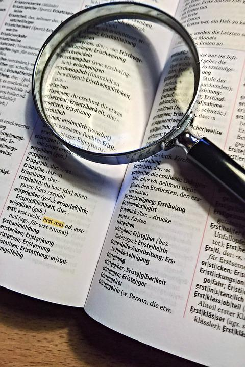 Book, Duden, Magnifying Glass, Sehhilfe, Small Print