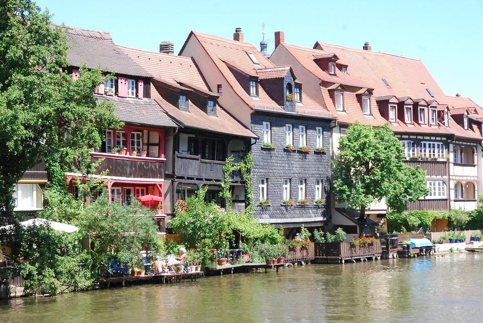 Bamberg, Small-venice, River, Small Venice, Regnitz