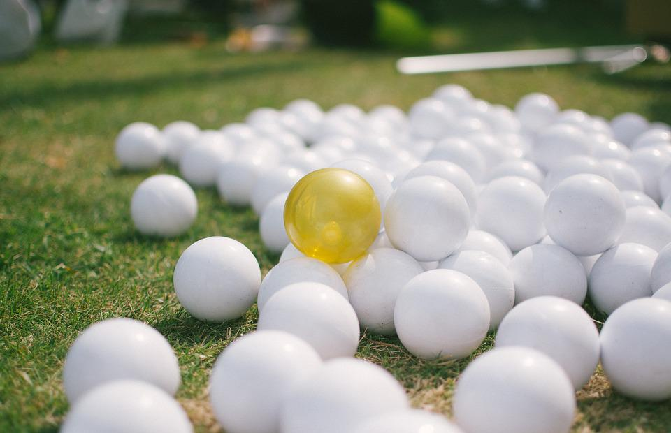The Ball, Small, Yellow, White