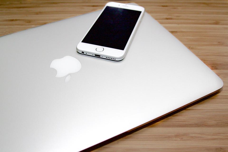Macbook, Desk, Iphone, Smart, Phone, Apple