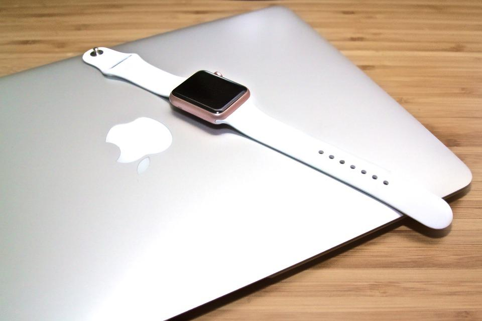 Macbook, Laptop, Apple, Smart, Watch, Desk