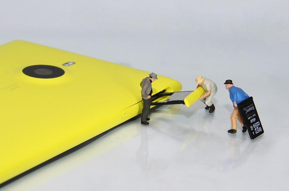 Mobile Phone, Sd-card, Miniature Figures, Smartphone