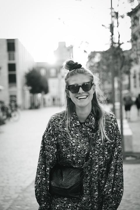 Woman, Model, Smile, Laughter, Blond, Beauty, Aalborg