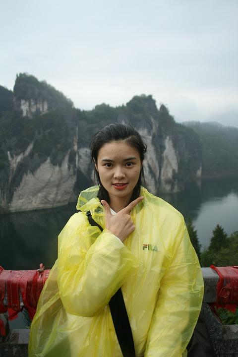 Chinese Girl, Smile, Yellow, River, China, Happy