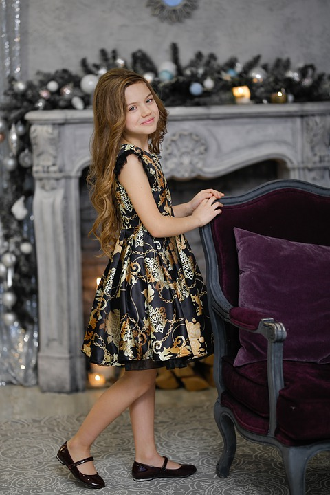 Girl, Fashion, Smile, Happy, Indoors, Outfit, Child