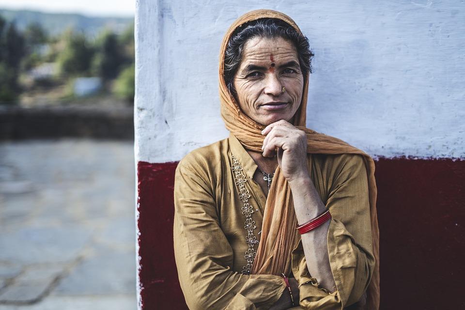 Woman, Indian, Portrait, Smile, Pose, Head Scarf