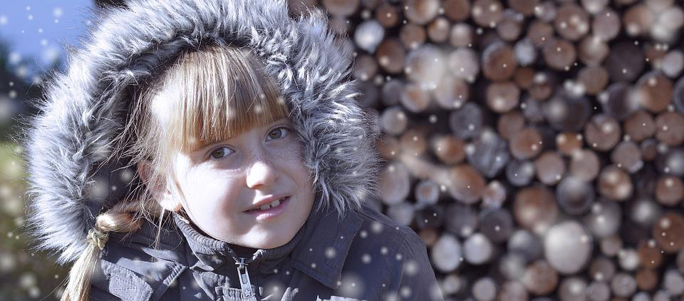Child, Girl, Face, Snow, Smile, Joy, Winter